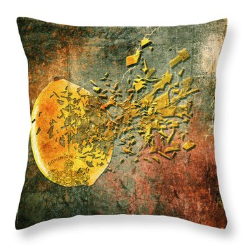 Busted Lemon Throw Pillow