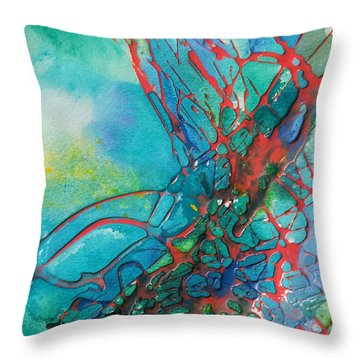 Busting Out Throw Pillow by Becky Chappell