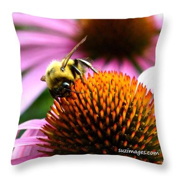 Busy As A Bee Throw Pillow