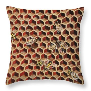 Busy Bee 3 Throw Pillow