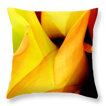 Busy Bee Throw Pillow by Amar Sheow