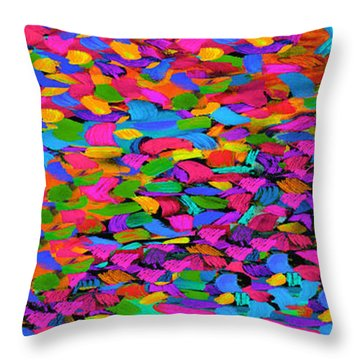 Busy Busy Busy Horizontal Throw Pillow by Dale Moses