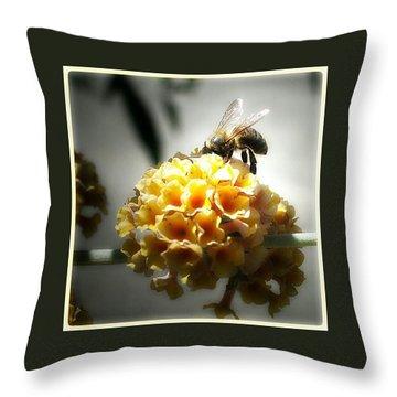 Busy Buzzy Bee Throw Pillow