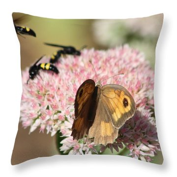 Busy Days Throw Pillow by Rogerio Mariani