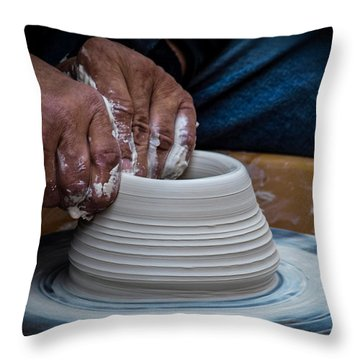 Busy Hands Throw Pillow