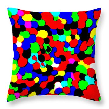 Throw Pillow featuring the photograph Busy Heads by Christopher Rowlands