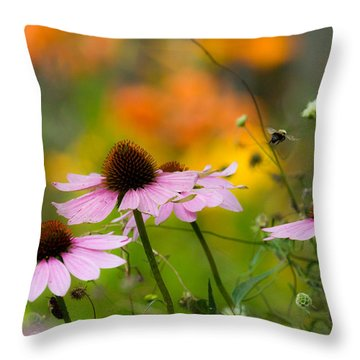 Throw Pillow featuring the photograph Busy Morning by Mary Amerman