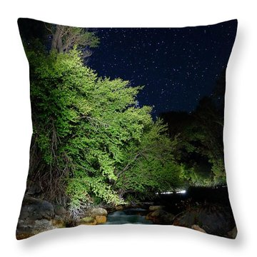 Throw Pillow featuring the photograph Busy Night by David Andersen