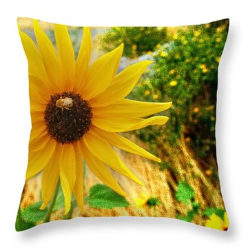 Busy Visitor Throw Pillow