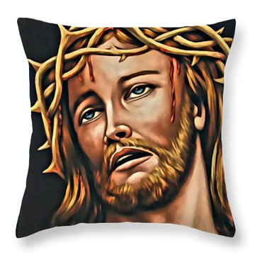 But For Grace Throw Pillow by Karen Showell