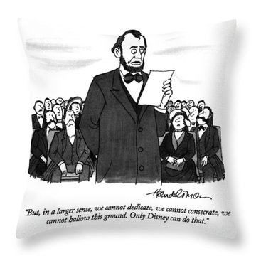 But, In A Larger Sense, We Cannot Dedicate Throw Pillow