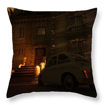 But You Can Never Leave Throw Pillow by Kylie Sabra