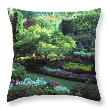 Butchard Gardens Vancouver Island Throw Pillow by Bob Christopher