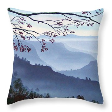 Butte Creek Canyon Mural Throw Pillow
