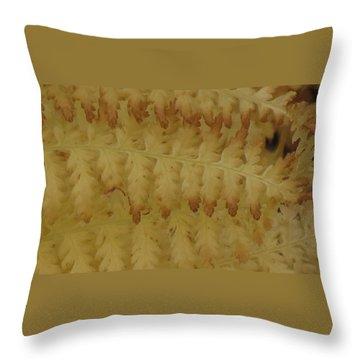 Butter Ferns Throw Pillow