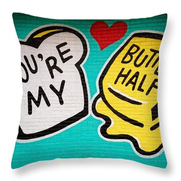 Butter Half Throw Pillow by Dave Files