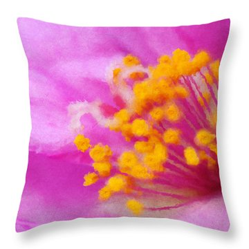 Buttercup Confection Throw Pillow
