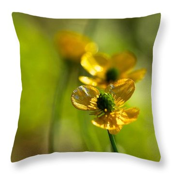 Buttercups I Throw Pillow