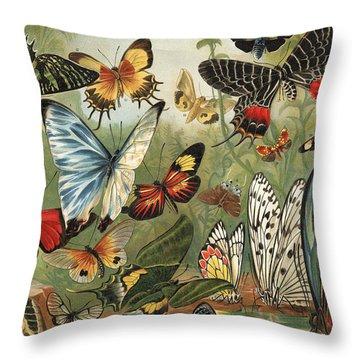 Butterflies 2 Throw Pillow by Mutzel