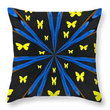 Butterflies Galore Throw Pillow by Karol Livote