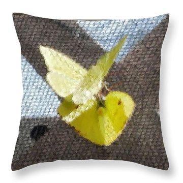 Sulfur Butterflies Mating Throw Pillow by Belinda Lee