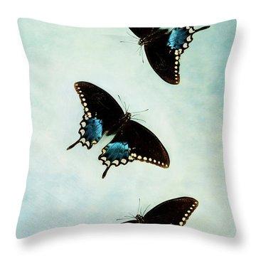 Butterflies In Flight Throw Pillow by Stephanie Frey