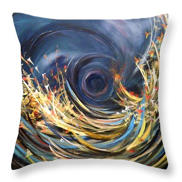 Throw Pillow featuring the painting Butterflies Migration by Dorothy Maier