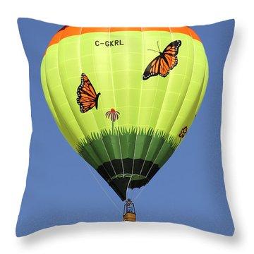Butterflies  Throw Pillow by Mike McGlothlen