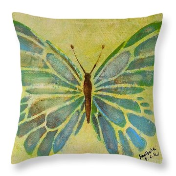 Butterfly 1 By Saribelle  Throw Pillow by Saribelle Rodriguez