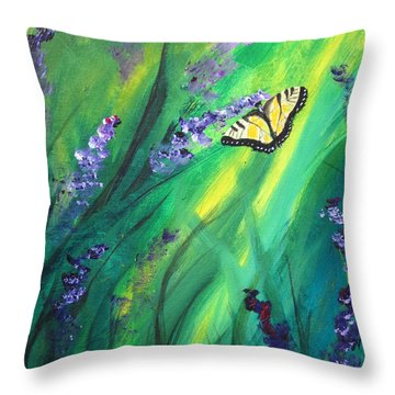 Butterfly 2 Throw Pillow by Laurianna Taylor