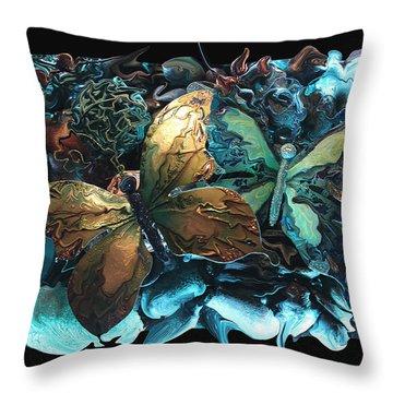 Butterfly 21 Throw Pillow by Steven Lebron Langston