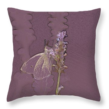 Butterfly 3 Throw Pillow by Carol Lynch