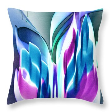 Throw Pillow featuring the digital art Butterfly Abstract 3 by Frank Bright