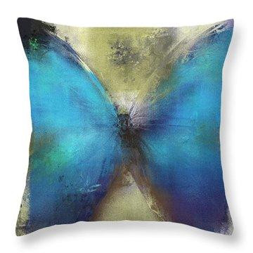 Butterfly Art - Ab0101a Throw Pillow by Variance Collections