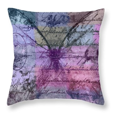 Butterfly Art - Ab25a Throw Pillow by Variance Collections