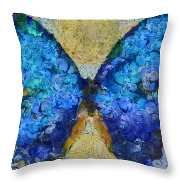 Butterfly Art - D11bb Throw Pillow by Variance Collections