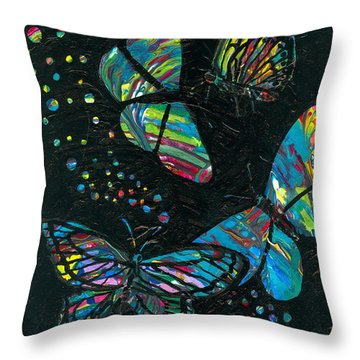 Butterfly Beauties Throw Pillow by Denise Hoag