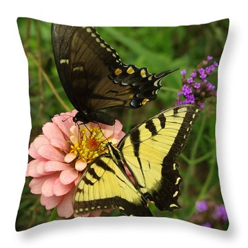 Swallowtaill Bliss Throw Pillow by James C Thomas