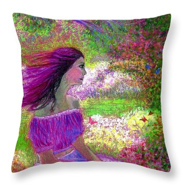 Floral Happiness Throw Pillows
