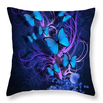 Butterfly Burst Throw Pillow
