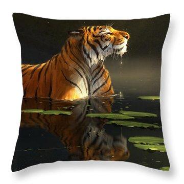 Tigers Throw Pillows