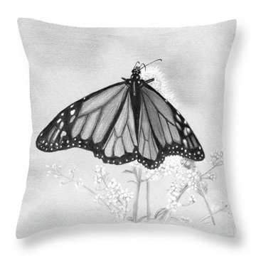 Butterfly Throw Pillow by Denise Deiloh