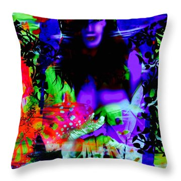 Throw Pillow featuring the digital art Butterfly Dream by Diana Riukas