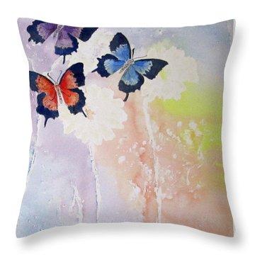 Butterfly Dream Throw Pillow by Elvira Ingram