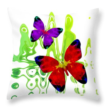 Butterfly Duet - Harmony Throw Pillow