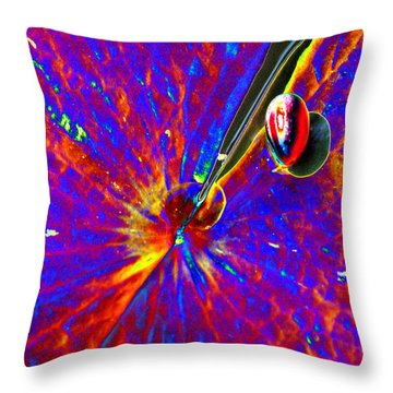 Butterfly Effect Throw Pillow by Yue Wang