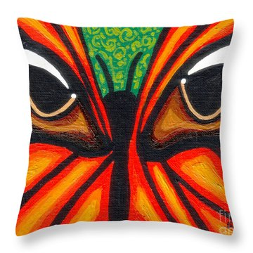 Butterfly Eyes Throw Pillow by Genevieve Esson