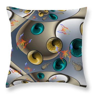 Butterfly Fractal Palette Throw Pillow