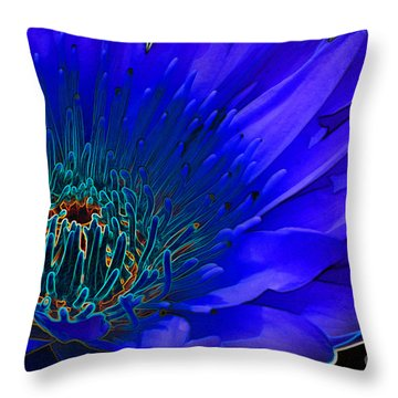 Butterfly Garden 11 - Water Lily Throw Pillow by E B Schmidt