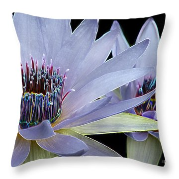 Butterfly Garden 26 - Water Lilies Throw Pillow by E B Schmidt